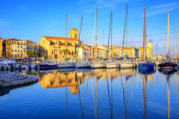 Starówka portu la Francja niebieski wody Zdjęcia stock © Xantana