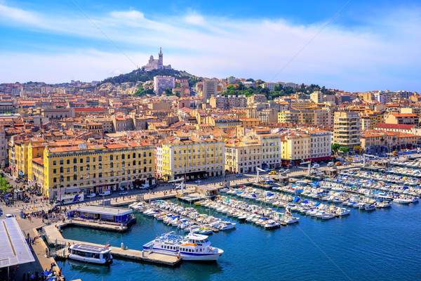 View of the historical old town of Marseilles, France Stock photo © Xantana