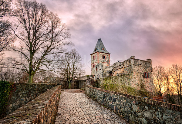 Castle Frankenstein in Odenwald, Darmstadt, Germany Stock photo © Xantana