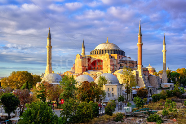 Hagia Sophia domes and minarets, Istanbul, Turkey Stock photo © Xantana