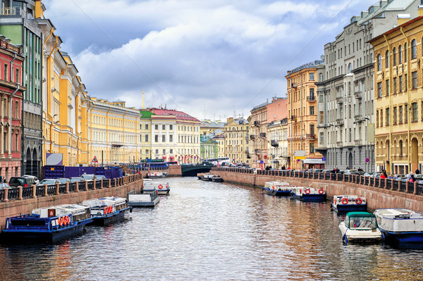 St Petersburg, view over Moyka river from Nevsky prospekt Stock photo © Xantana