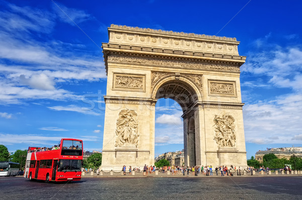 The Triumphal Arch, Paris, France Stock photo © Xantana