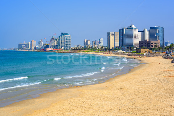 Modern skyline of Tel Aviv city, Israel Stock photo © Xantana