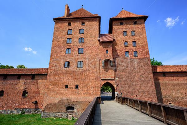 Red brick towers of the Teutonic Order Castle, Malbork, Poland Stock photo © Xantana