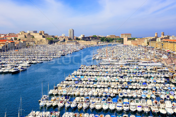 Old Port in the city center of Marseilles, France Stock photo © Xantana