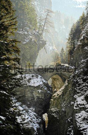 Bridge over Viamala gorge in Swiss Alps, Switzerland Stock photo © Xantana