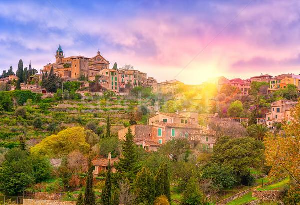 Sunrise in Valdemossa valley, Mallorca, Spain Stock photo © Xantana