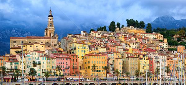 Panorámica vista barrio antiguo colorido medieval ciudad Foto stock © Xantana