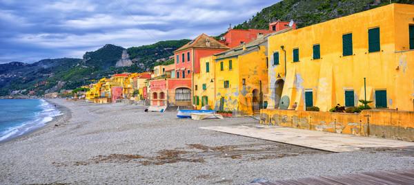Colorful fisherman's houses on italian Riviera in Varigotti, Liguria, Italy Stock photo © Xantana