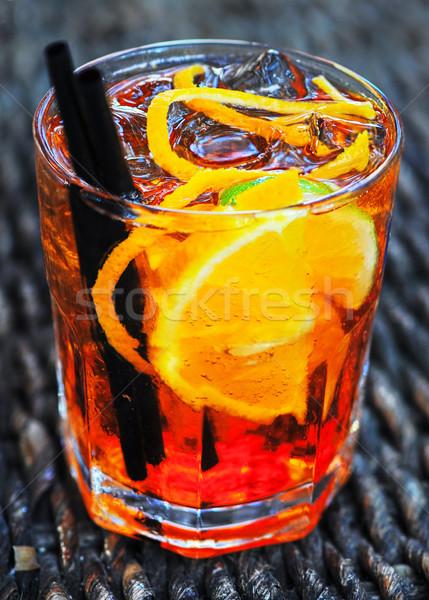 Glass of Aperol long drink Stock photo © Xantana