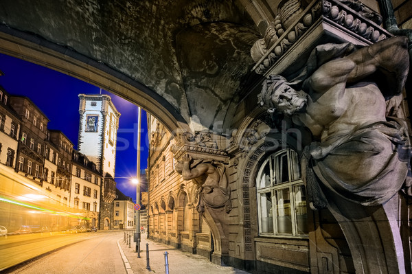 Night scene in the old town of Frankfurt Main, Germany Stock photo © Xantana