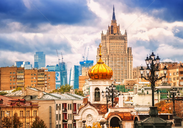 Skyline russisch panoramisch traditioneel architectuur Stockfoto © Xantana