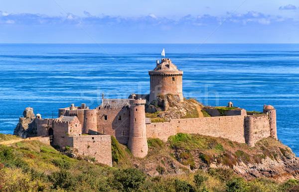 Fort la kust Frankrijk kasteel oceaan Stockfoto © Xantana