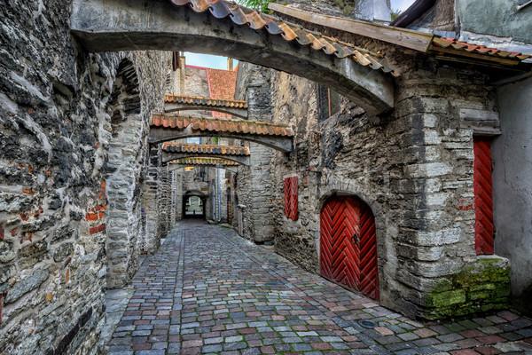 Oude straat oude binnenstad historisch stad Stockfoto © Xantana