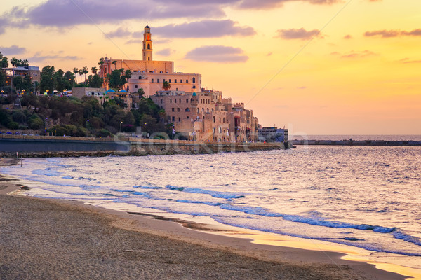 Old town of Yafo, Tel Aviv, Israel, on sunset Stock photo © Xantana