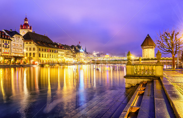 Lucerne Old Town at night, Switzerland Stock photo © Xantana