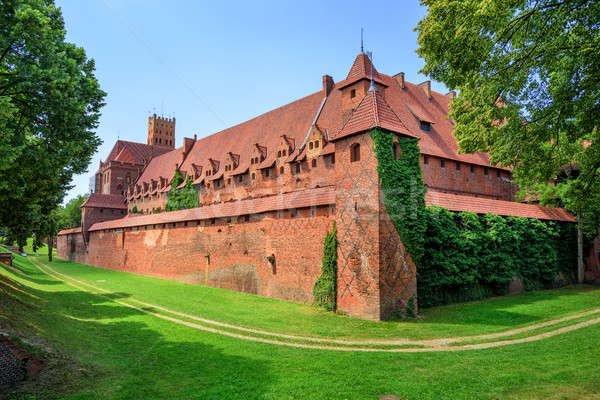 Castle of Teutonic Knights Order in Malbork, Poland Stock photo © Xantana