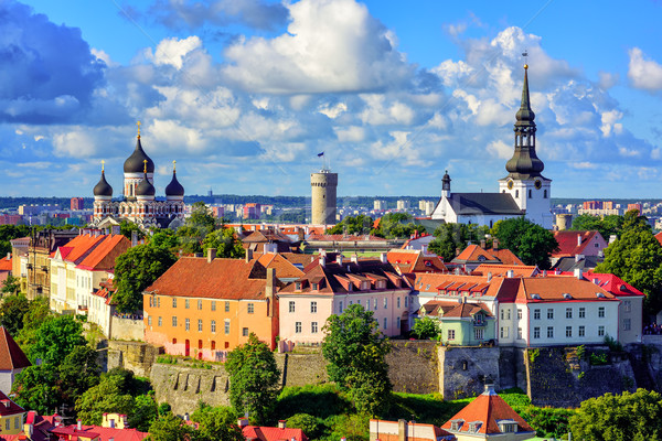 Medieval old town of Tallinn, Estonia Stock photo © Xantana