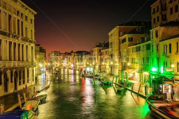 Venice, Italy, at night Stock photo © Xantana