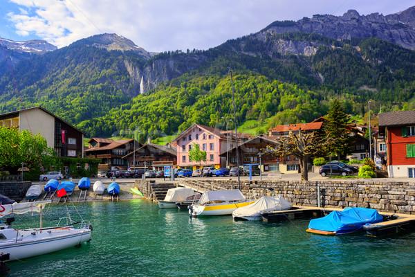 Small swiss town on Lake Interlaken, Switzerland Stock photo © Xantana