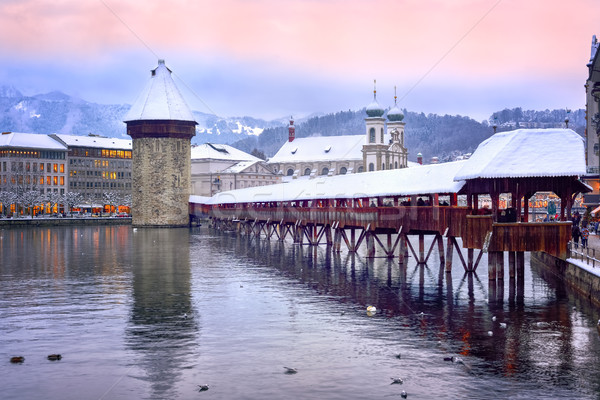 Lucerne Old Town in winter, Switzerland Stock photo © Xantana
