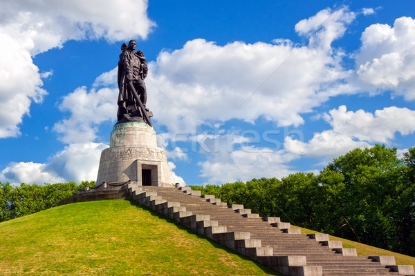 Soviet soldier monument at Treptow park, Berlin, Germany Stock photo © Xantana