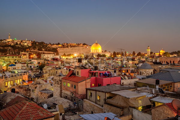 Old City of Jerusalem and Temple Mount, Israel Stock photo © Xantana