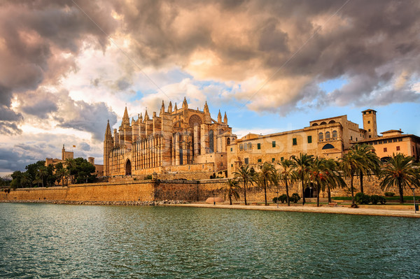 Cathedral of Palma de Mallorca, Spain Stock photo © Xantana
