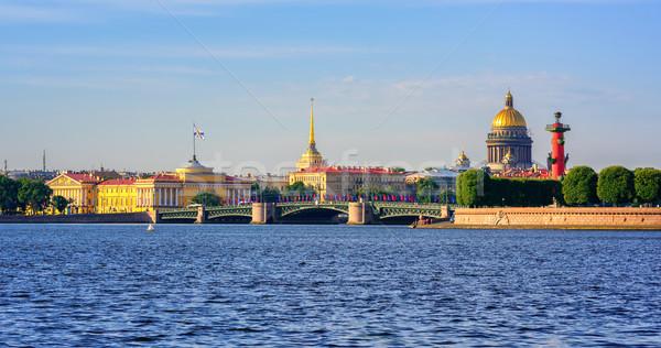 Panorama palais pont rivière or dôme Photo stock © Xantana