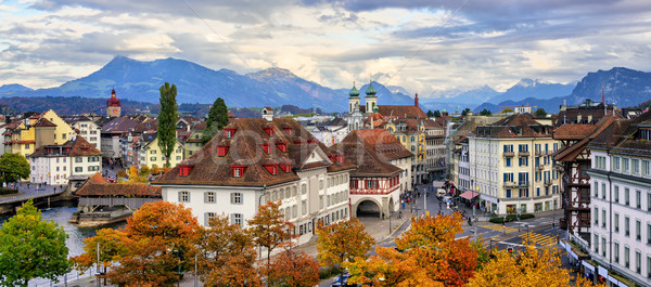 Panoramic view of Lucerne old town, Switzerland Stock photo © Xantana