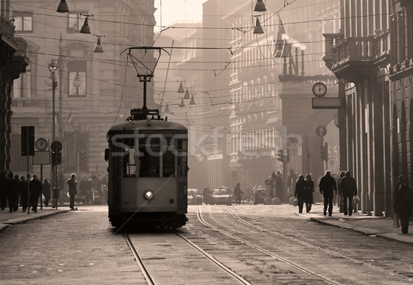 Historical tram in Milan old town, Italy Stock photo © Xantana