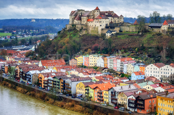 Burghausen, historical german town in Bavaria near Salzburg Stock photo © Xantana