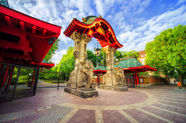 Entrance to the Berlin Zoological Garden, Germany Stock photo © Xantana