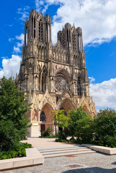 Notre Dame de Reims Cathedral, France Stock photo © Xantana