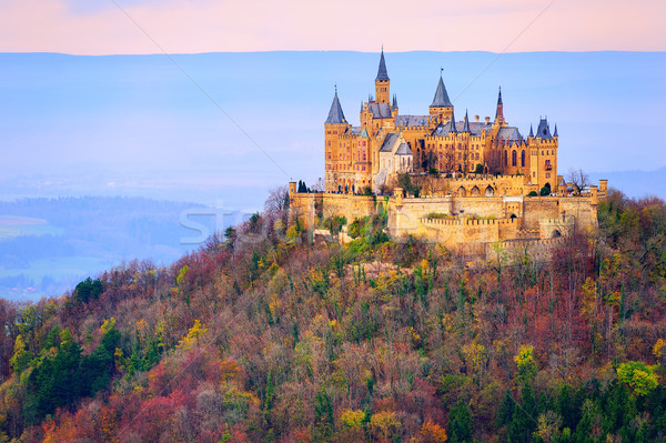 Hohenzollern castle, Stuttgart, Germany, in the early morning light Stock photo © Xantana