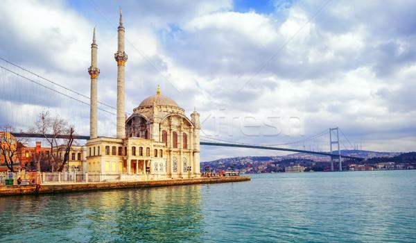 Ortakoy mosque and Bosphorus Bridge, Istanbul, Turkey Stock photo © Xantana