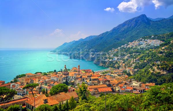 Costa sul cidade mediterrânico sol montanha Foto stock © Xantana