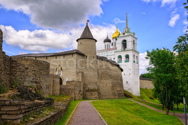 The Pskov Kremlin with Trinity Church, Russia Stock photo © Xantana