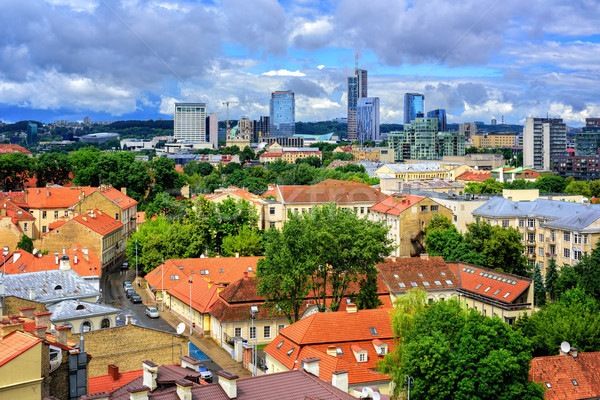 Old town and modern center of Vilnius, Lithuania Stock photo © Xantana