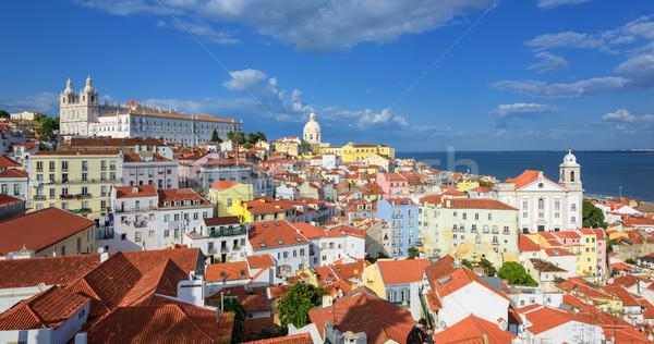 Panoramic view of Alfama quarter, Lisbon, Portugal Stock photo © Xantana
