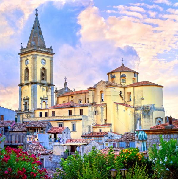 W. sycylia katolicki kościoła włoski wulkan Zdjęcia stock © Xantana