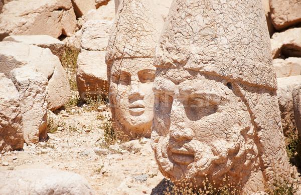 Antique statues on top of Nemrut mountain, Turkey Stock photo © Xantana