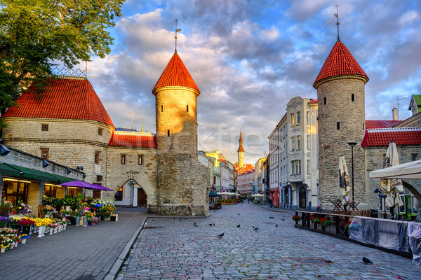 Viru Gate in the old town of Tallinn, Estonia Stock photo © Xantana