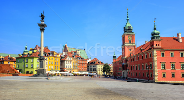 Colorful houses in the historic centre of Warsaw, Poland Stock photo © Xantana