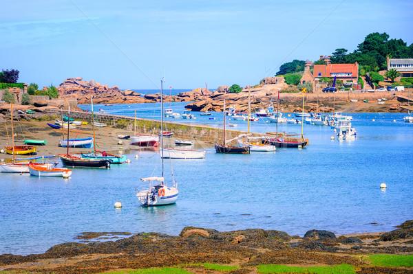 Barcos aumentó océano agua paisaje mar Foto stock © Xantana