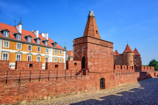 Rojo ladrillo paredes pólvora torre Foto stock © Xantana