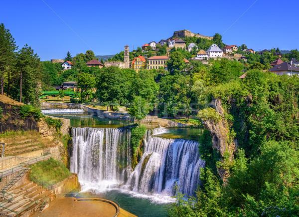 Cidade cachoeira Bósnia-Herzegovina famoso belo água Foto stock © Xantana
