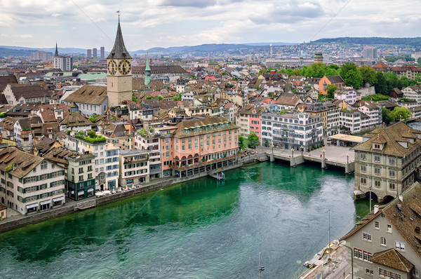 Old town of Zurich, Switzerland Stock photo © Xantana