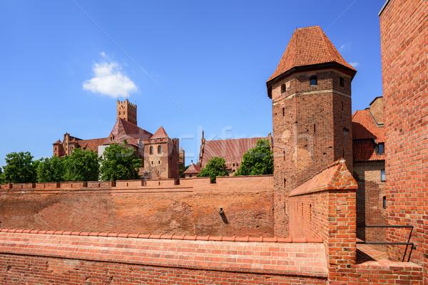 The teutonic Knights Order castle in Malbork, Poland Stock photo © Xantana