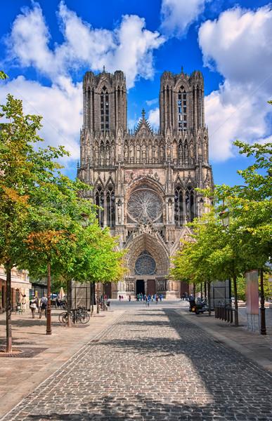 Katedral yer fransız inşaat dünya Stok fotoğraf © Xantana